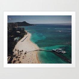 Waikiki Views From The Sky Art Print