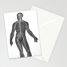 The human nervous system Stationery Cards