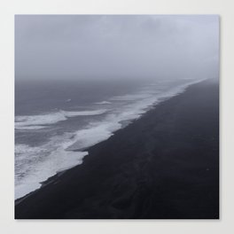 Vanishing point - Dyrholaey, Iceland Canvas Print