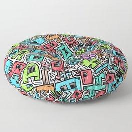 Cute Box Doodle Floor Pillow