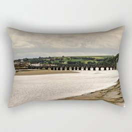 Bideford Long Bridge Devon Rectangular Pillow