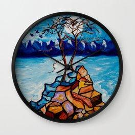 Moonlight Cypress Wall Clock