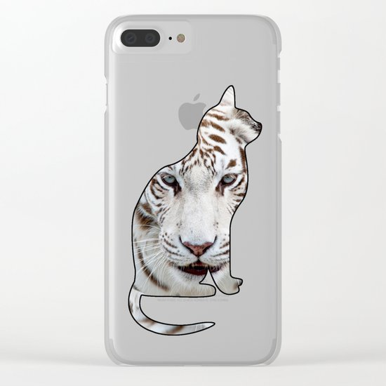 WHITE CATS Clear iPhone Case