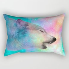 Breathing Dreams Like Air (Wolf Howl Abstract) Rectangular Pillow