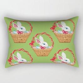 Bunny in basket Rectangular Pillow