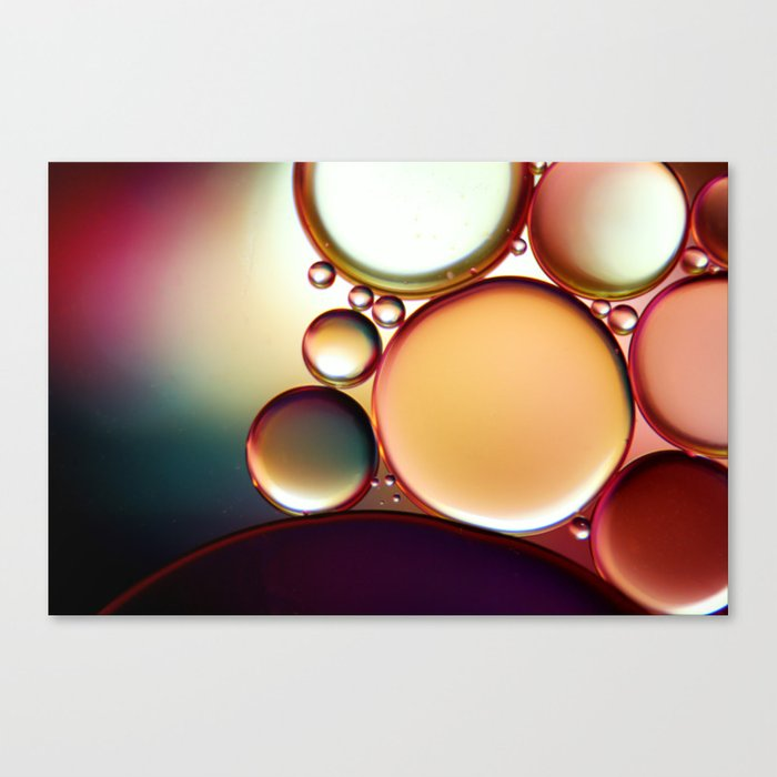 Oil On Water Colourful Canvas Print