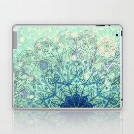 Mandala in Sea Green and Blue Laptop & iPad Skin