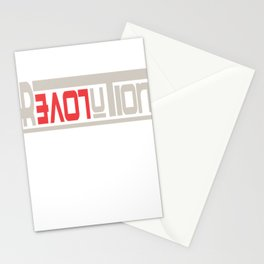 This is the awesome revolutionary Tshirt Those who make peaceful revolution LOVE REVOLUTION Stationery Cards