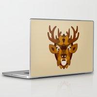 reindeer Laptop & iPad Skins featuring REINDEER by toprock