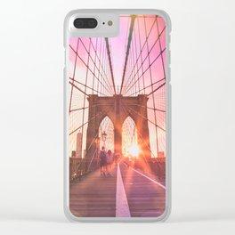 NYC Brooklyn Bridge Clear iPhone Case