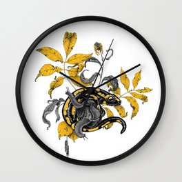 Salamander and Snails Wall Clock