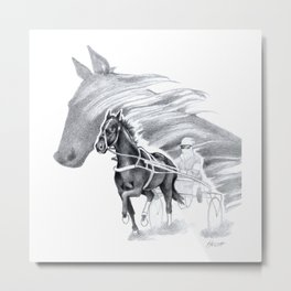 Trotting Up A Storm Metal Print