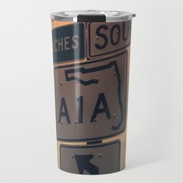A1A South To The Beaches Travel Mug