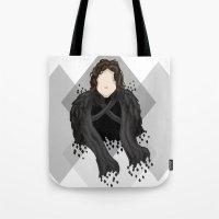 jon snow Tote Bags featuring Jon Snow by itsamoose