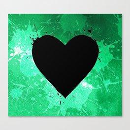 Elegant watercolor splash heart Canvas Print
