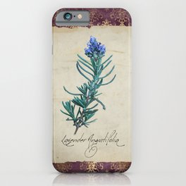 Herbal Apothecary: Lavender iPhone Case