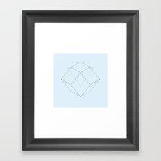 #87 Rhomboids – Geometry Daily Framed Art Print