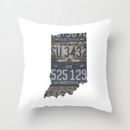 Vintage Indiana Throw Pillow