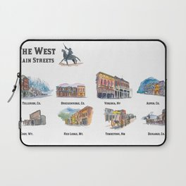 USA Wild West Towns Main Streets - Telluride, Breckenridge, Aspen & Co. Laptop Sleeve