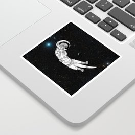 André Floating Around in Otter Space Sticker