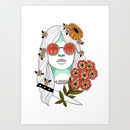 Look. Listen. Art Print