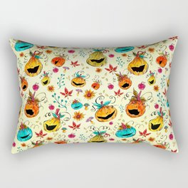 Happy pumpkins pattern Rectangular Pillow