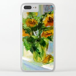 Sunflowers # 3 Clear iPhone Case
