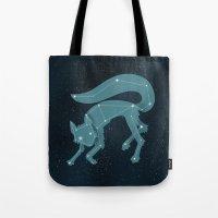 starfox Tote Bags featuring Star Fox (Vulpes astra) by Sarajea