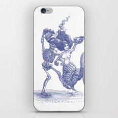 Dancing Mermaid and Skeleton iPhone & iPod Skin