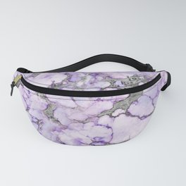 Lavender Marble Fanny Pack