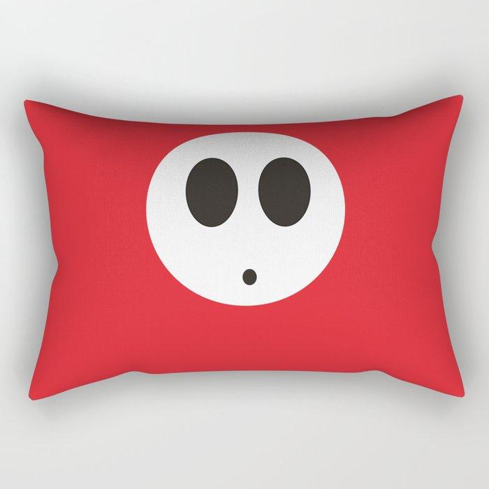 SHY GUY (RED) Rectangular Pillow
