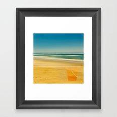 Beach & Bucket  Framed Art Print