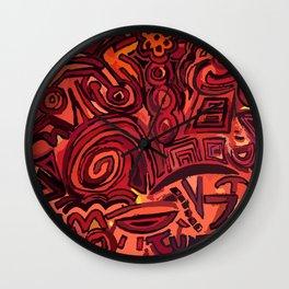 Red simbols Wall Clock