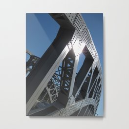 Rivets Metal Print