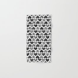 Wild Hearts in Black and White Hand & Bath Towel