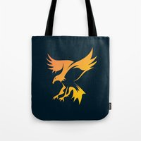 phoenix Tote Bags featuring Phoenix by Dale J Cheetham