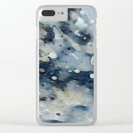 Dark Galaxy1 watercolour by CheyAnne Sexton Clear iPhone Case