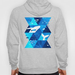 Blue Whale Jumping Hoody