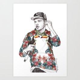 Liam Floral Art Print