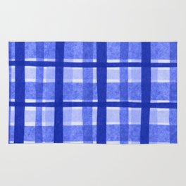 Tissue Paper Plaid - Blue Rug