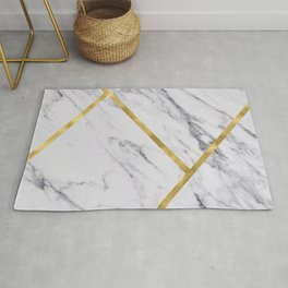 Golden classic marble Rug