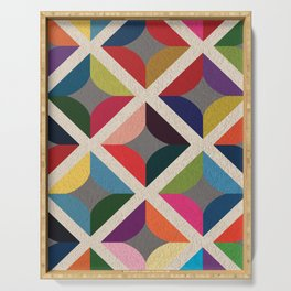 Colourful Geometric Serving Tray