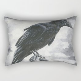 Moody Raven Rectangular Pillow