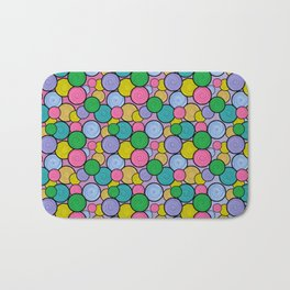 Swirly Paint Pattern Bath Mat