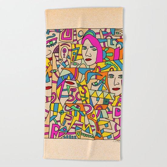 - shy - Beach Towel