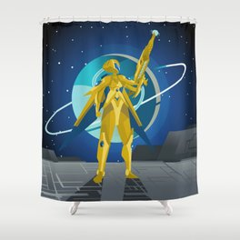 space suit science fiction soldier Shower Curtain