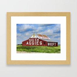 Aggie Barn Framed Art Print