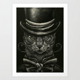 Classy Cat Art Print