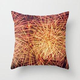 Art of the Fireworks Throw Pillow