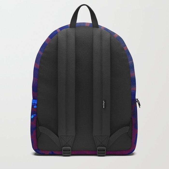 Blue Ice Lines Stripe Backpack